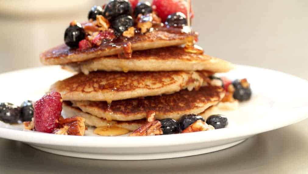 How to make Buckwheat Almond Flour Pancakes with Berry Compote