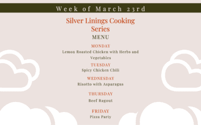 Silver Linings Cooking Series – Week 1