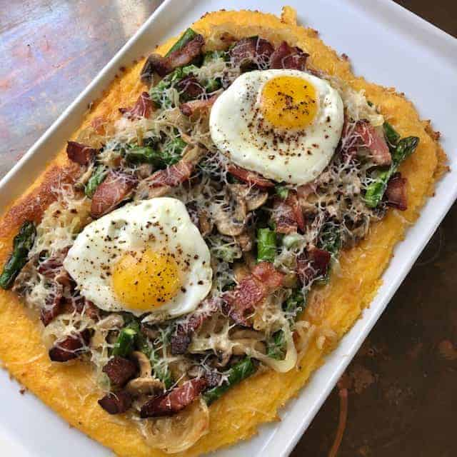 Polenta Breakfast Pizza