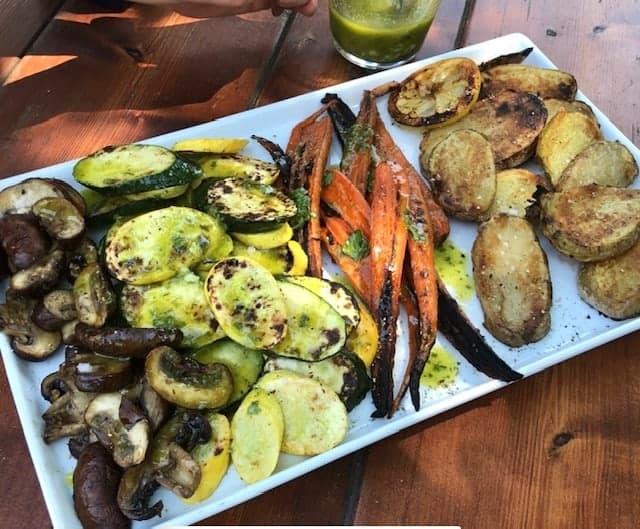 dressed grilled vegetables
