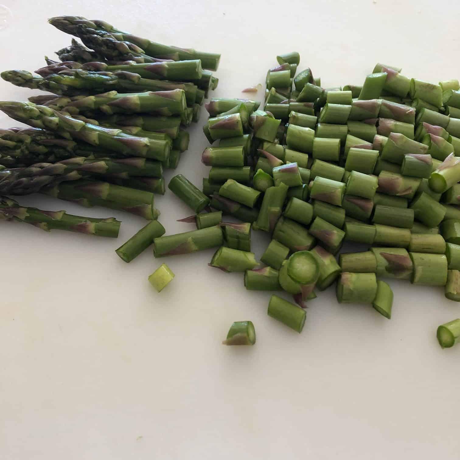 Fresh Asparagus Cut up