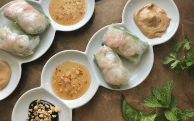 Spring Rolls with Three Dipping Sauces