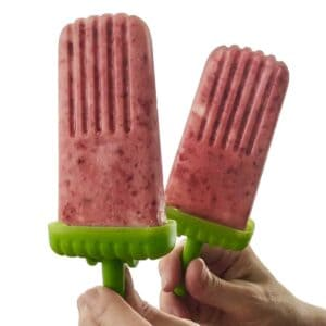 Roasted Strawberry Rhubarb Paletas