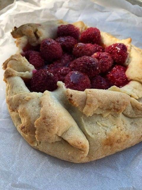 Raspberry Galette Side View