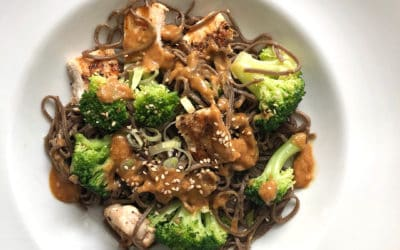 Sesame Soba Noodles with Broccoli and Chicken
