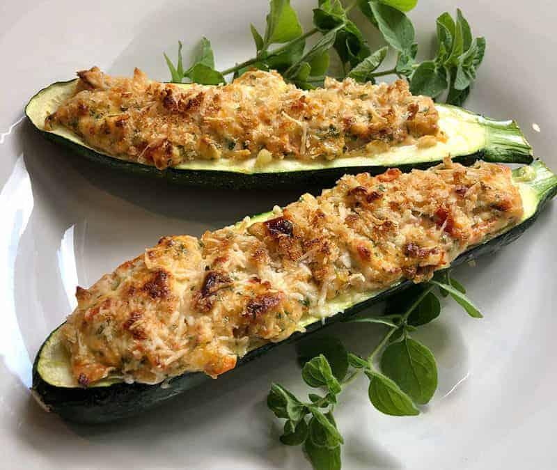 Herbed Ricotta Stuffed Zucchini
