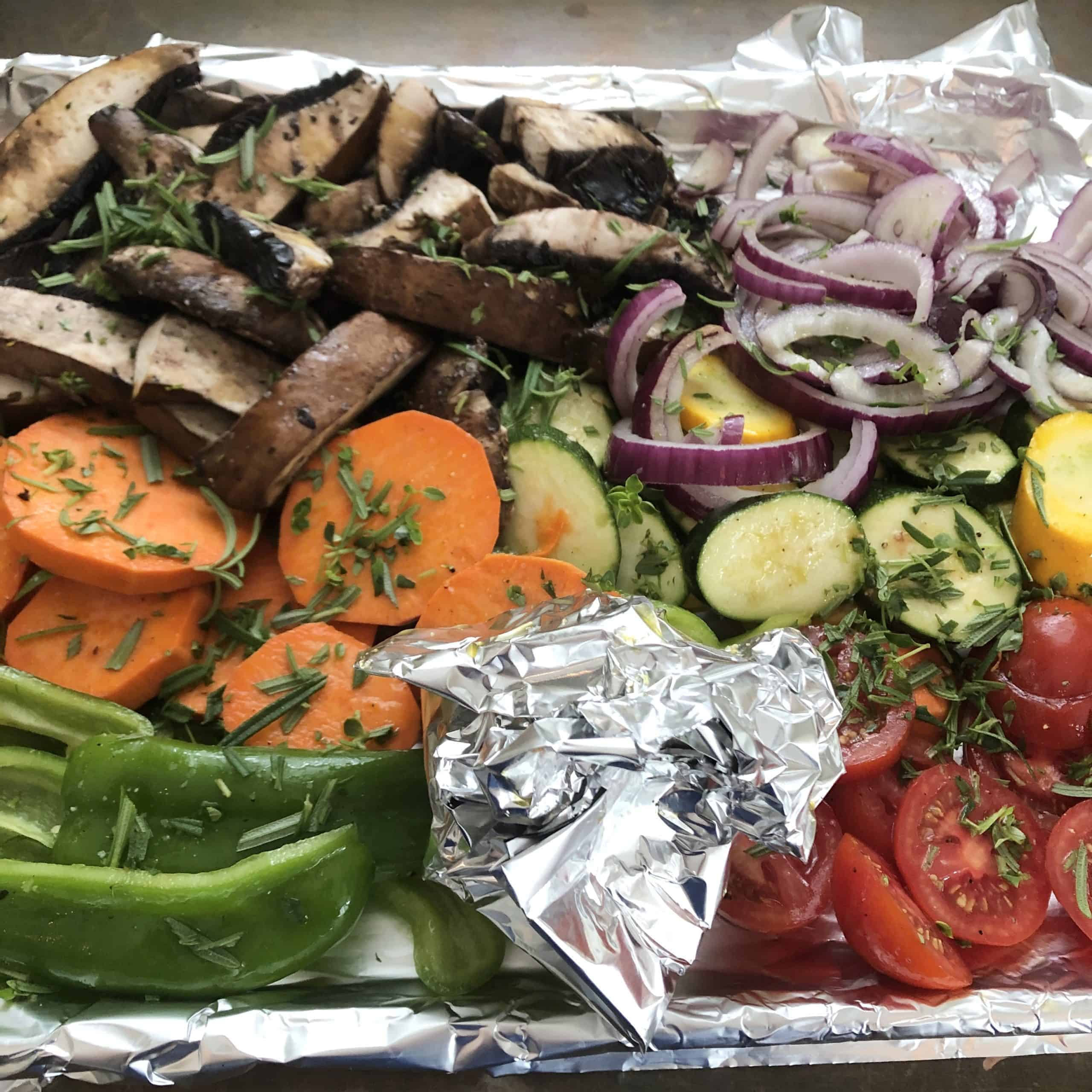 Roasted Vegetables - before
