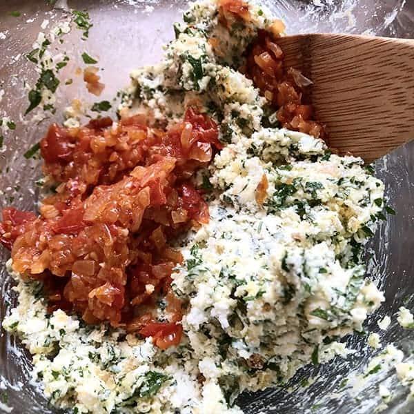 zucchini stuffing with ricotta