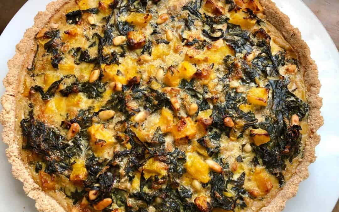 Butternut Squash Tart with Chard