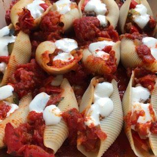 shells ready to bake