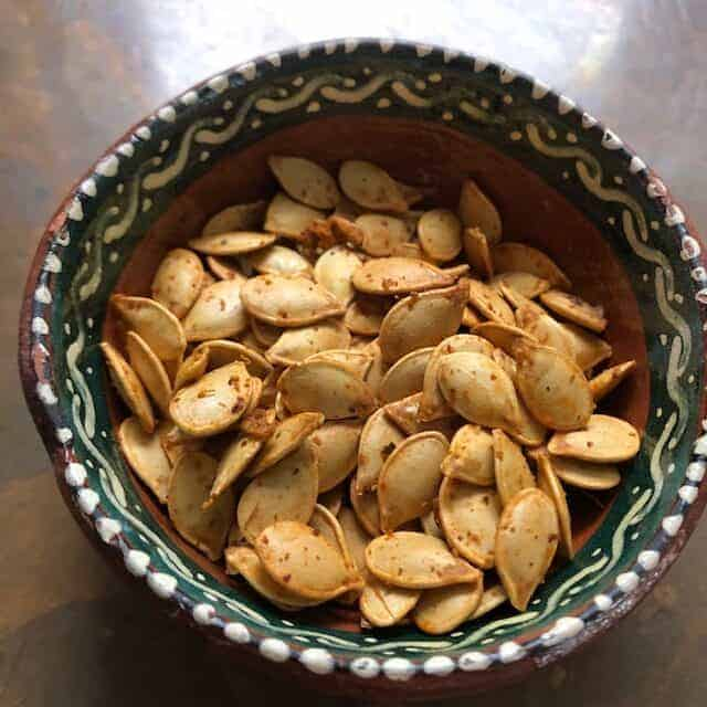 Spicy Toasted Squash Seeds