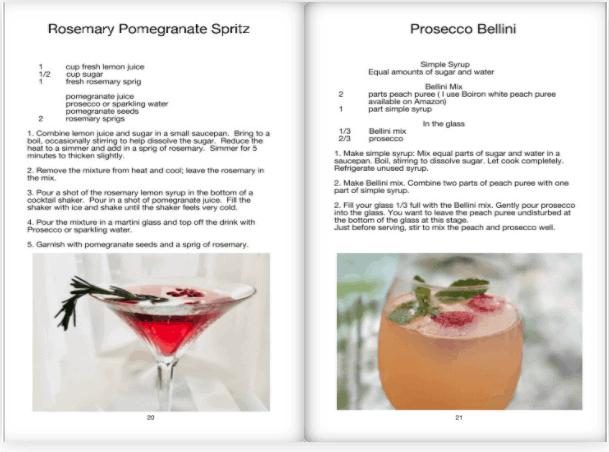 beverage book spread