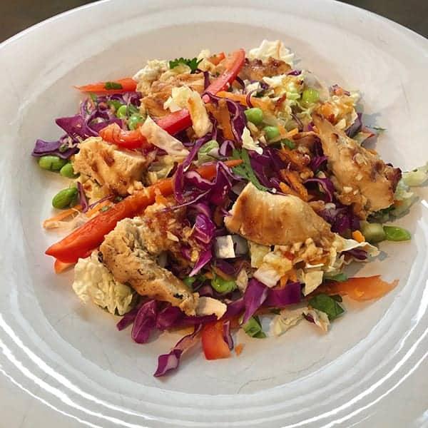 Spicy Edamame Chicken Salad