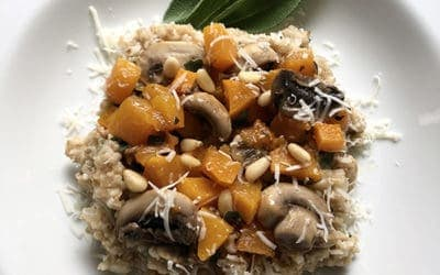 Irish Oat Risotto with Butternut Squash and Crimini