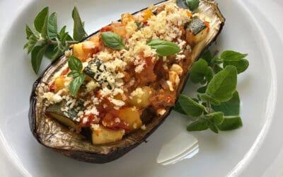 Mediterranean Stuffed Eggplant