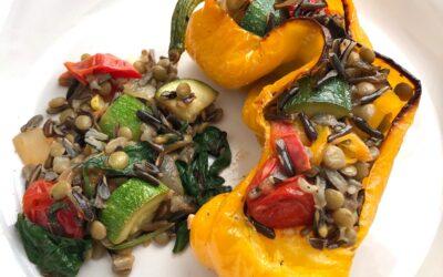 Wild Rice Veggie Stuffed Peppers