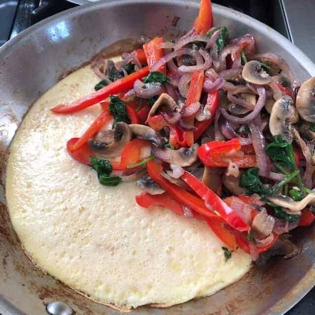 overstuffed omelet
