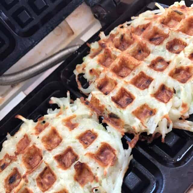 Latkes in waffle maker