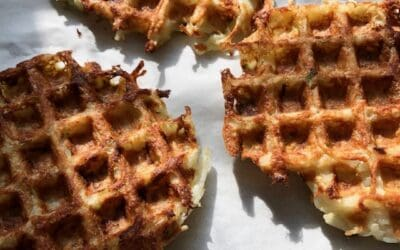 Potato Waffle Latkes with Green Onions