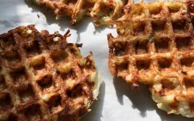 Potato Waffle Latkes with Green Onions