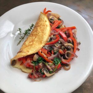 overstuffed omelet for two