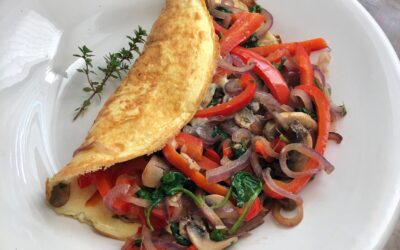 Veggie Thyme Over-stuffed Omelet for Two
