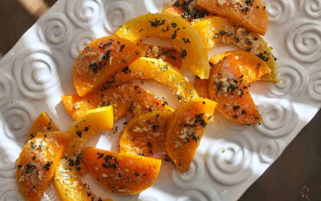 Butternut Squash Wedges with Sage and Parmesan