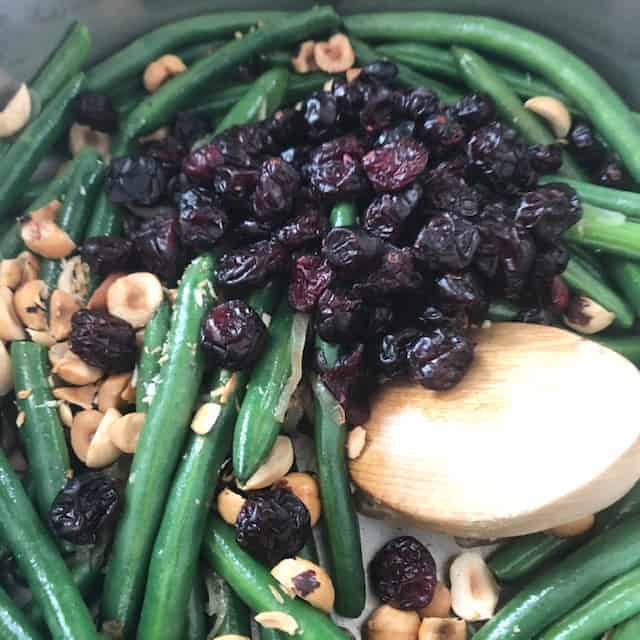 beans and cranberries