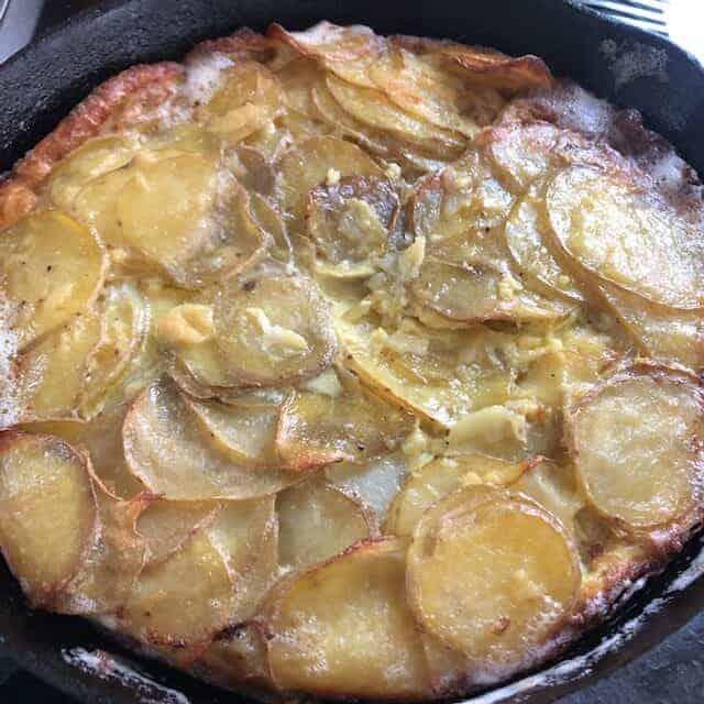 omelet before baking