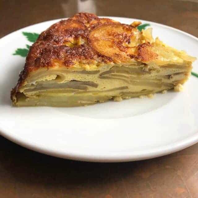 Spanish omelet serving