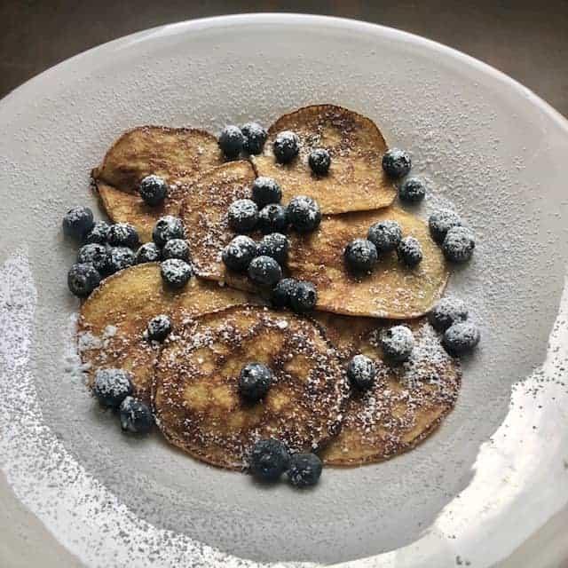 Almond Flour Pancakes with Bananas