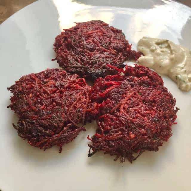 yammy beet fritters