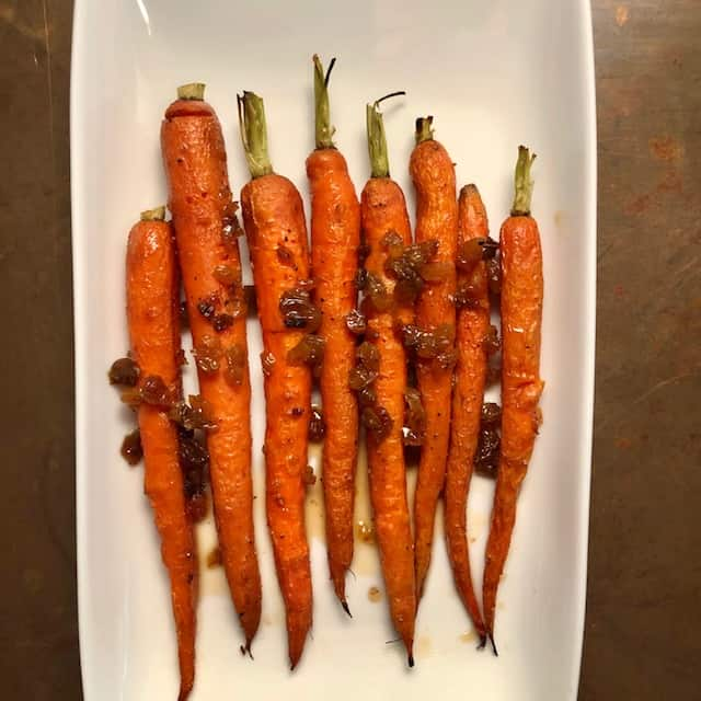 Roasted Carrots with Italian Agrodolce Sauce
