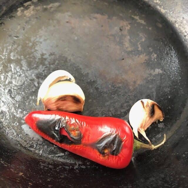 jalapeño and garlic