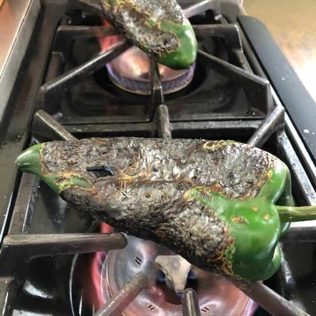 roasting poblano