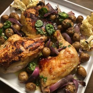 Roasted Chicken with Jalapeño Vinaigrette