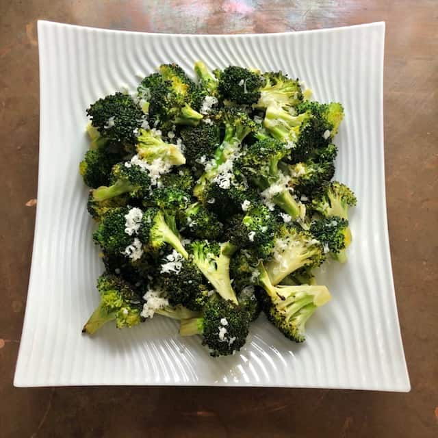 Roasted Broccoli with Lemon and Asiago