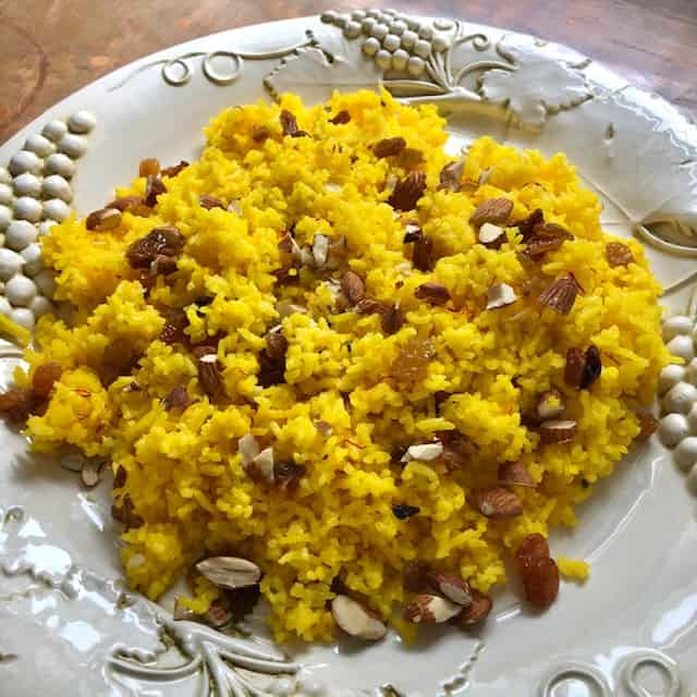 Indian-style Saffron Rice