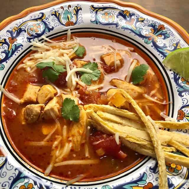 Tortilla Soup with Homemade Corn Tortillas