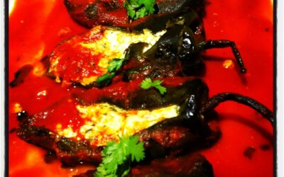 Fire Charred Chili Rellenos