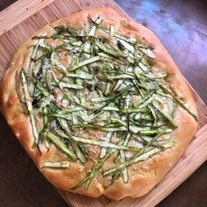 Shaved Asparagus Focaccia