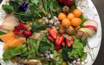 Farmers Market Summer Salad with Sesame Poppyseed Dressing